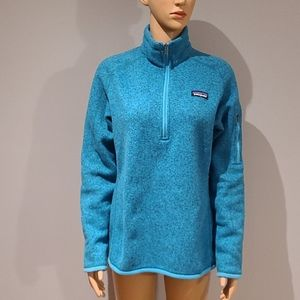 Patagonia blue flecked 1/4 zip pullover size M